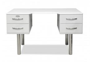 Malibu - Psací stůl (bílá, 4x zásuvka)