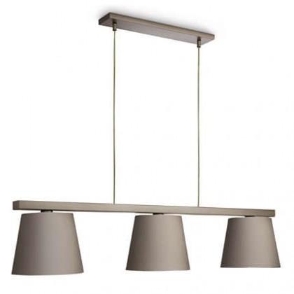 Mambo - Stropní osvětlení E 27, 118cm (myší šedá)