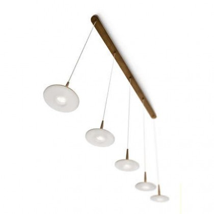 Mambo - Stropní osvětlení LED, 118,2cm (bronz)