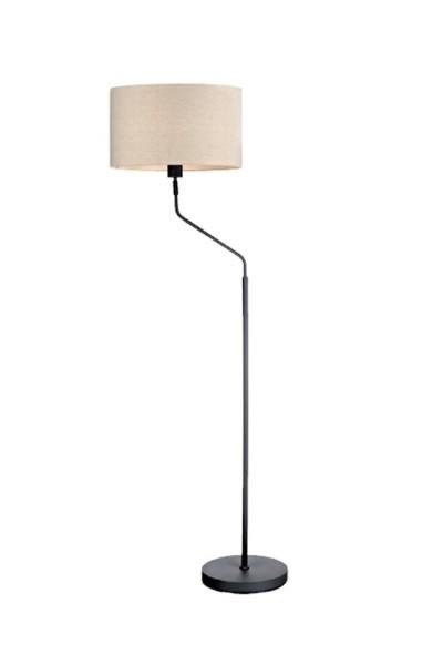 Manhattan - Lampa podlahová (kov/textil/bílá)