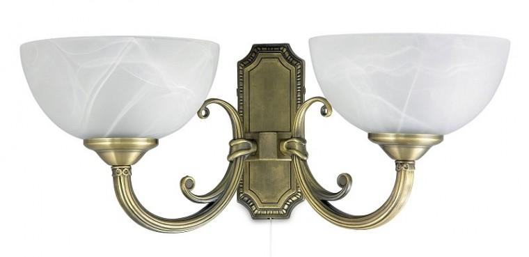 Marlene - Nástěnné osvětlení, 8542 (bronzová/bílá alabastrová)