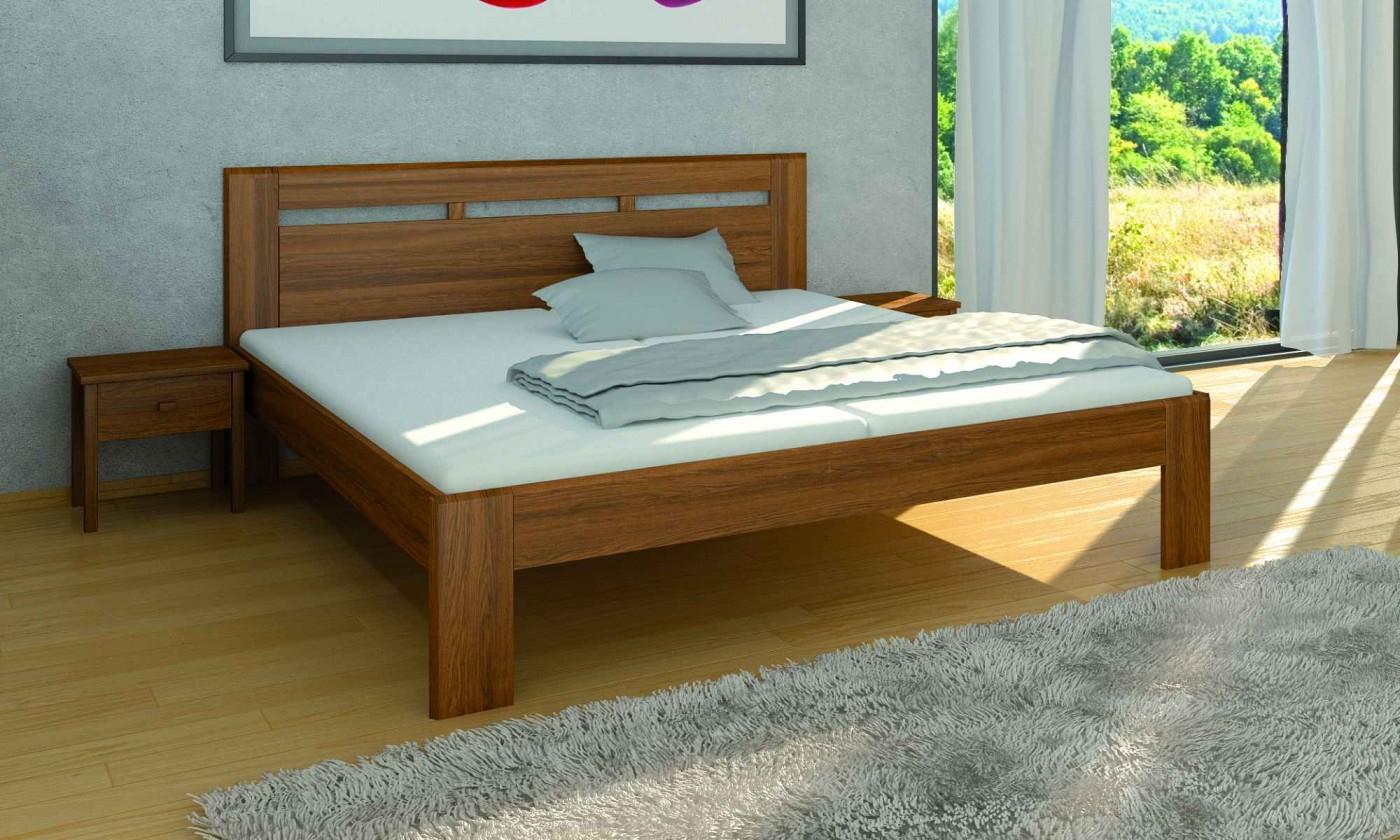 Masivní Dřevěná postel Carrera 180x200 cm, buk