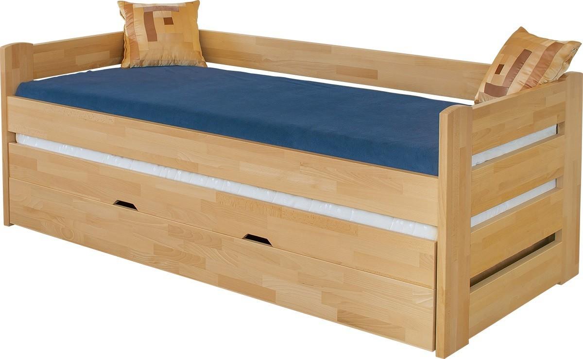Masivní Dřevěná postel Vario, 90x200, vč. roštu a úp, bez matrace