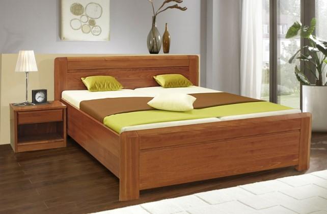 Masivní Elza 2 - rám postele 200x180, úložný prostor, výklopný rošt