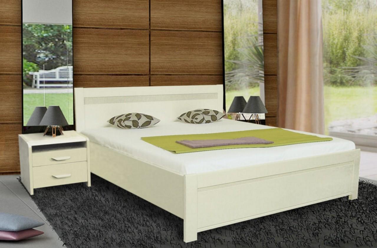 Masivní Nada 2 - rám postele 200x180, úložný prostor, výklopný rošt