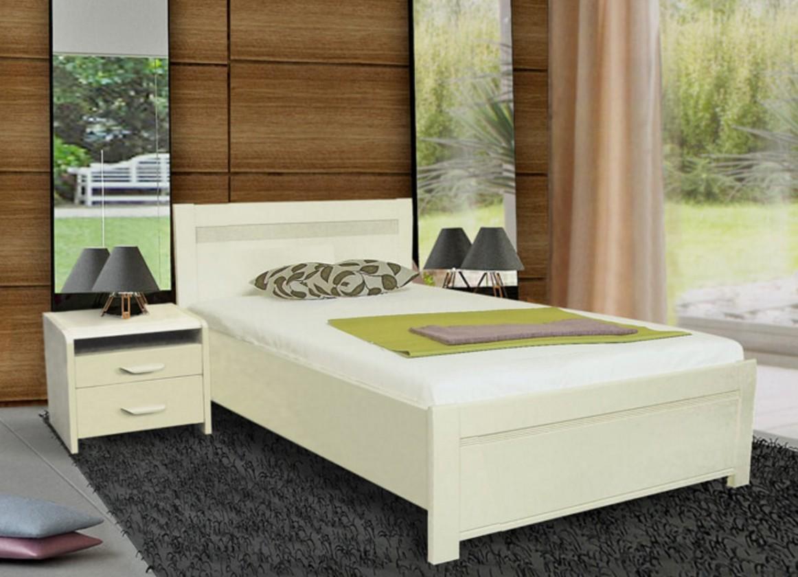 Masivní Nada 2 - rám postele 200x90, úložný prostor, výklopný rošt