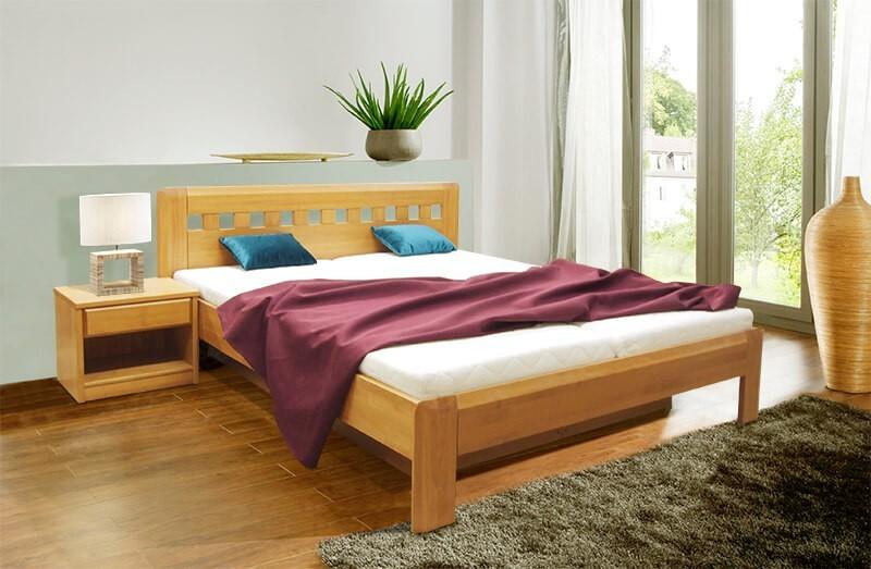 Masivní Rám postele Camira Lux 2 - 180x200, výklopné rošty, úložný prostor