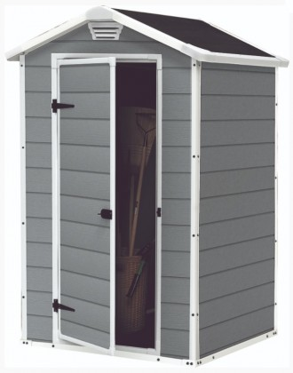Matador - Zahradní domek (128x94 cm, bílá, šedá)
