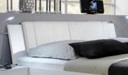Medina - Polstrované čelo na postel 160 cm (alpská bílá)