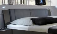 Medina - Polstrované čelo na postel 160 cm (lava černá)