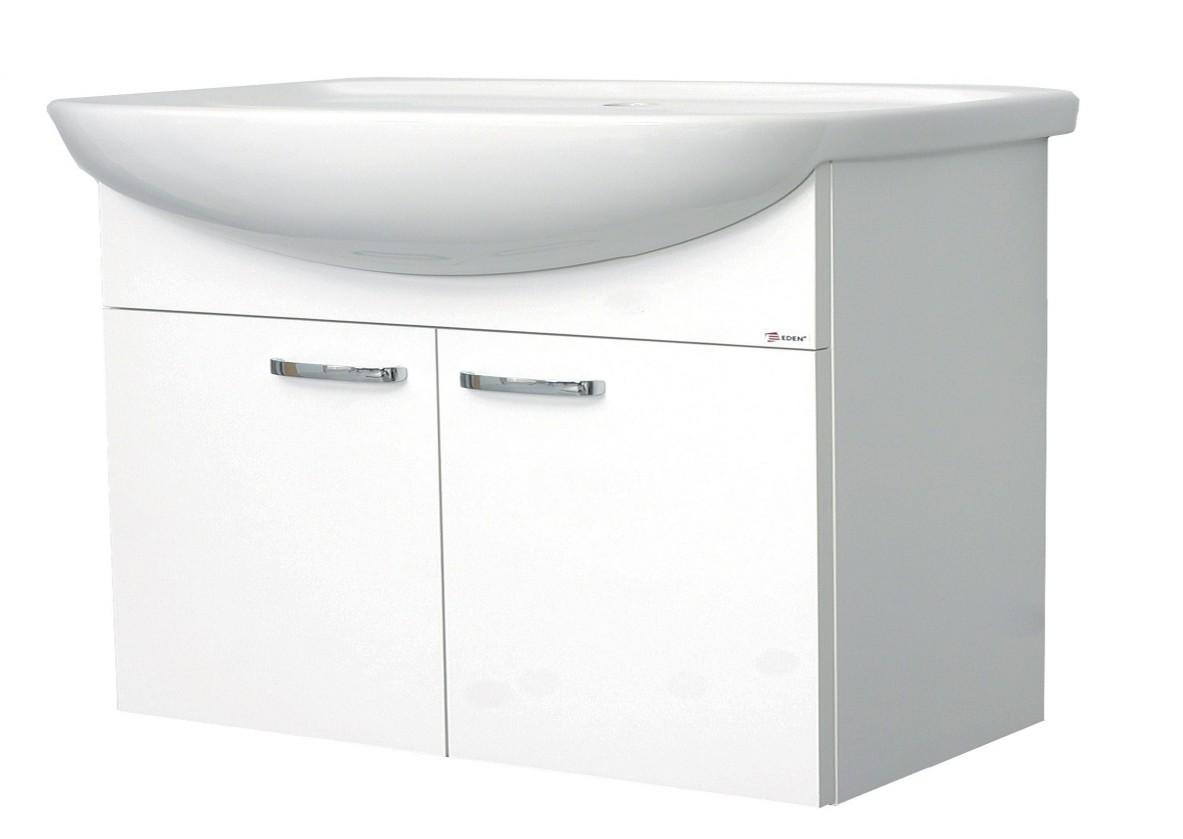 Melbourne - Skříňka s umyvadlem 80cm (bílá/bílá)