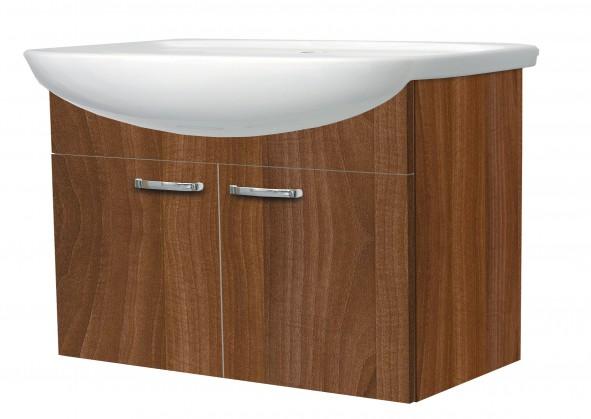 Melbourne - Skříňka s umyvadlem 80cm (ořech/ořech)
