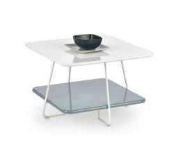 Melody - Konferenční stolek s úložným prostorem (bílá, šedá)
