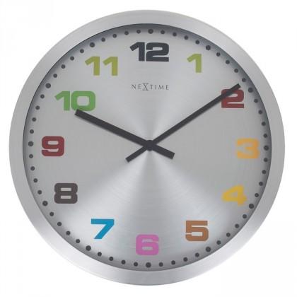 Mercure - hodiny, nástěnné, kulaté (nerez, sklo, barevné)