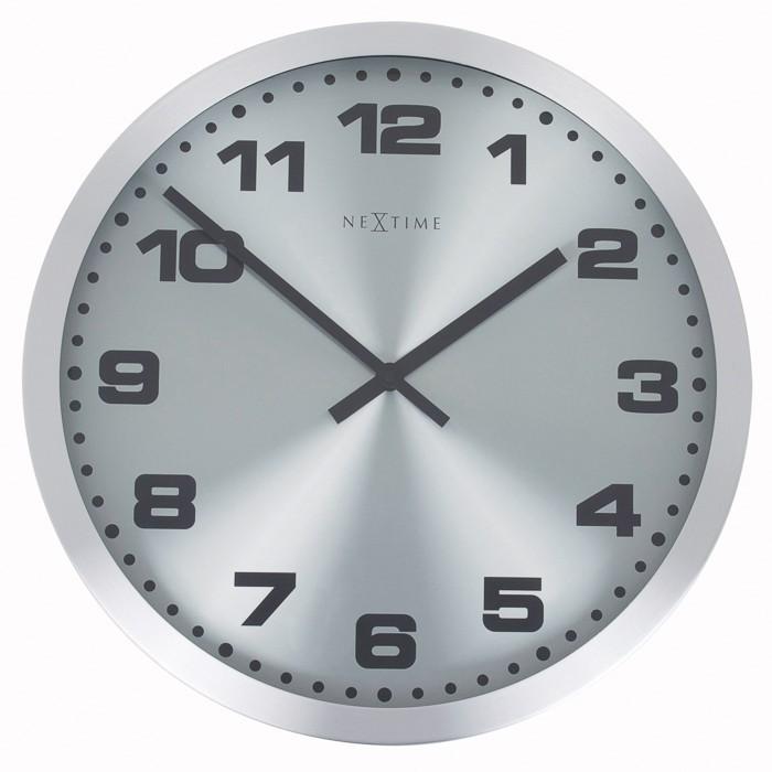 Mercure - hodiny, nástěnné, kulaté (nerez, sklo, černé)