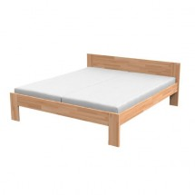 Monika - Rám postele 200x160, matrace (masiv buk, přírodní lak)