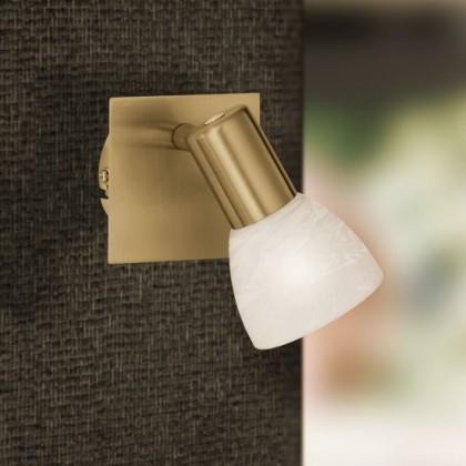 NÁBYTEK Angola - Nástěnné osvětlení, E14 (matná mosaz)