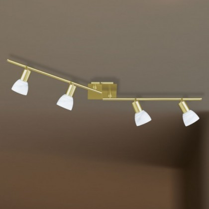 NÁBYTEK Angola - Stropní osvětlení, E14 (matná mosaz)