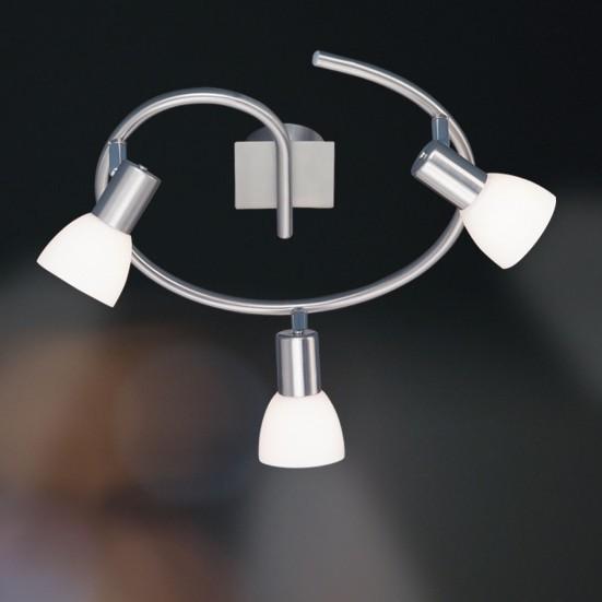 NÁBYTEK Angola - Stropní osvětlení, E14 (matný nikl)