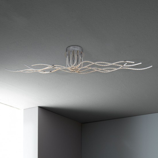 NÁBYTEK Benett - Stropní osvětlení, LED (chrom)