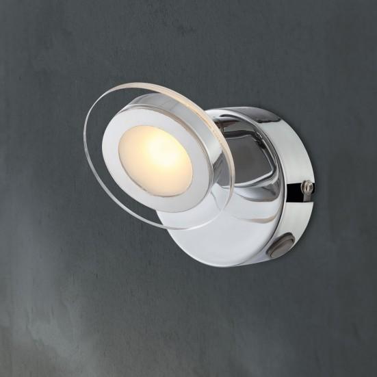 NÁBYTEK Chloe - Nástěnné osvětlení, LED (chrom)