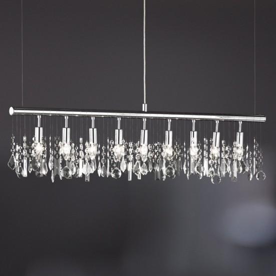 NÁBYTEK Crystal - Lampa, E14 (chrom)