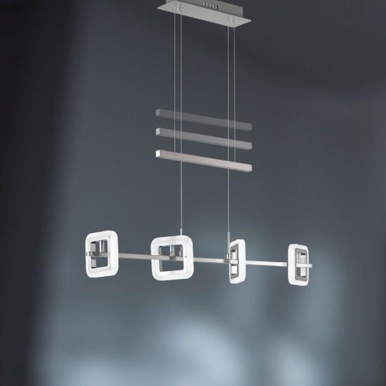 NÁBYTEK Davis - Stropní osvětlení, LED (matný nikl/chrom)