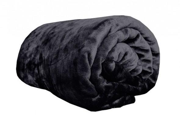 NÁBYTEK Deka z mikroflanelu, 150x200 (černá)