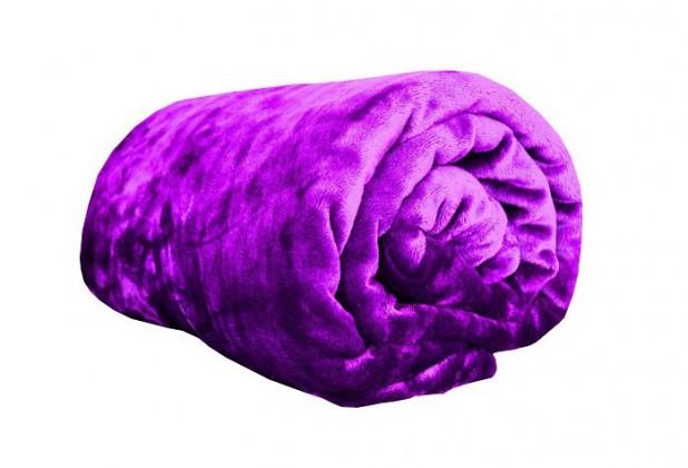 NÁBYTEK Deka z mikroflanelu, 150x200 (fialová)
