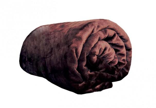NÁBYTEK Deka z mikroflanelu, 150x200 (hnědá)
