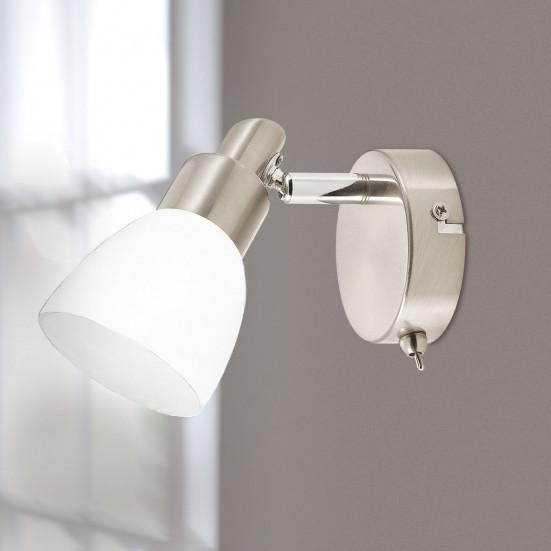 NÁBYTEK Eve - Nástěnné osvětlení, LED (matný nikl)