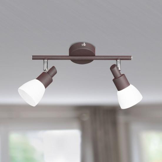 NÁBYTEK Eve - Stropní osvětlení, LED (antická hnědá)