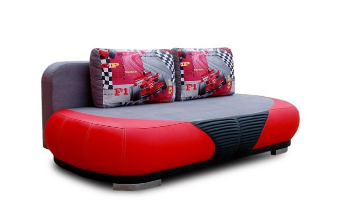 Nábytek GT - 3-sedák (červená / černá)