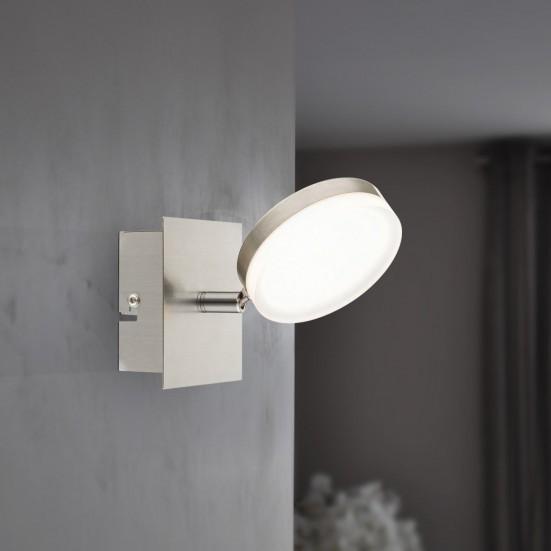 NÁBYTEK Hook - Nástěnné osvětlení, LED (matný nikl/chrom)