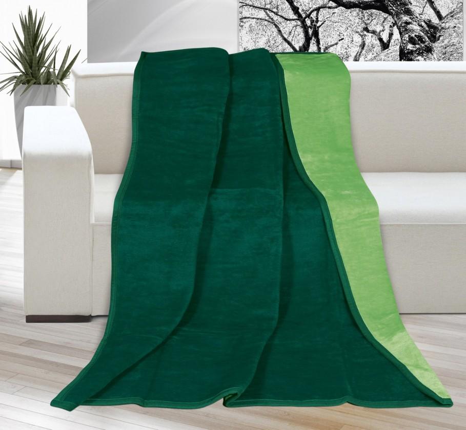 NÁBYTEK Karmela Plus - Deka 150x200 2210/035 (sv. zelená/tm. zelená)