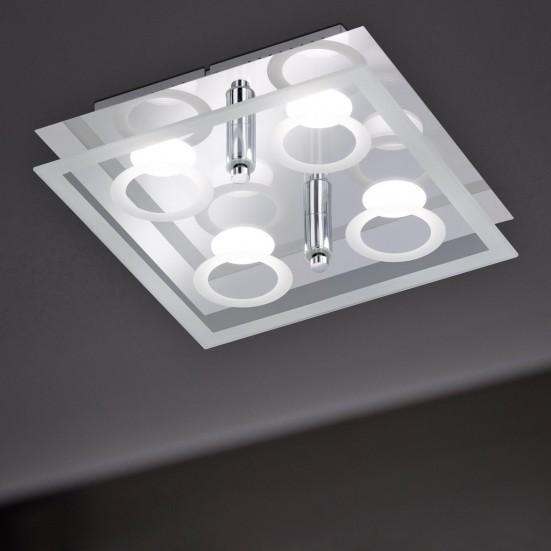 NÁBYTEK Mira - Stropní osvětlení, LED (chrom)