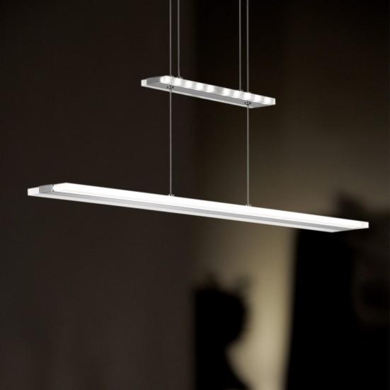 NÁBYTEK Mission - Stropní osvětlení, LED (matný nikl/chrom)