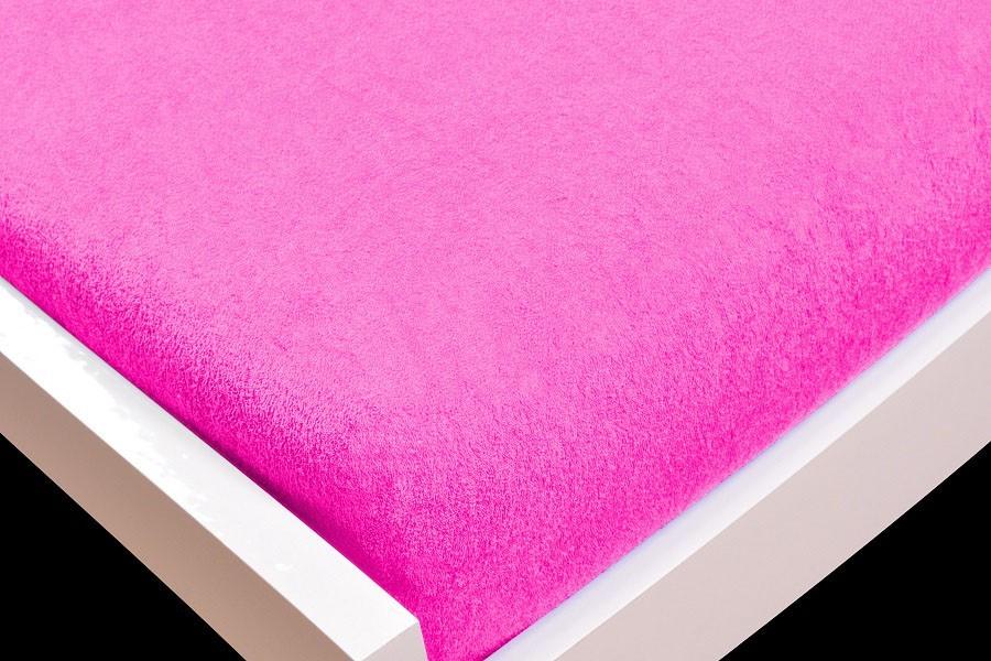 NÁBYTEK Prostěradlo Froté, 140x200 (růžové)