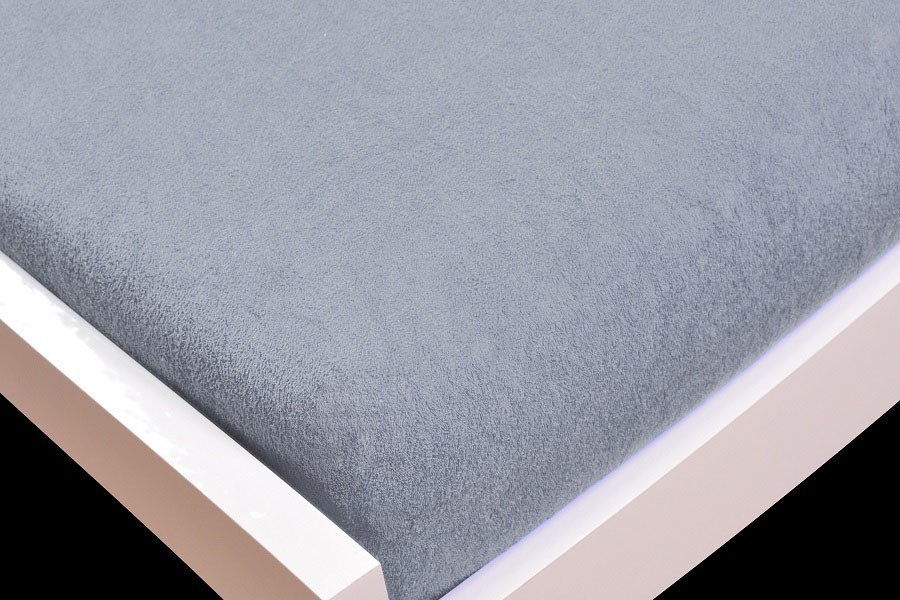 NÁBYTEK Prostěradlo Froté, 140x200 (šedé)