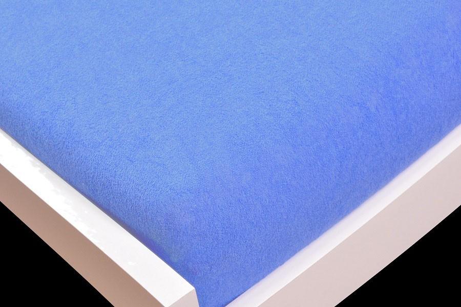 NÁBYTEK Prostěradlo Froté, 140x200 (světle modré)