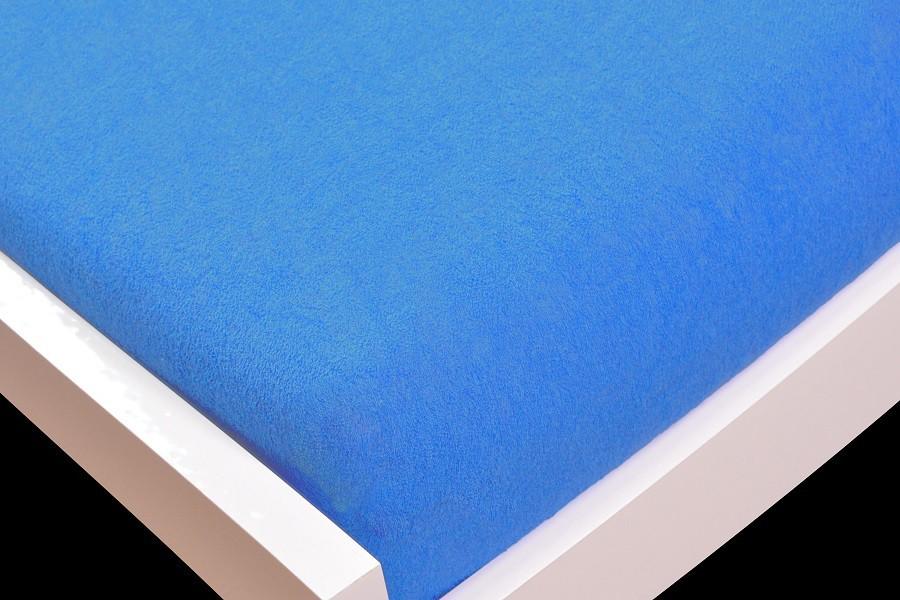 NÁBYTEK Prostěradlo Froté, 140x200 (tmavě modré)