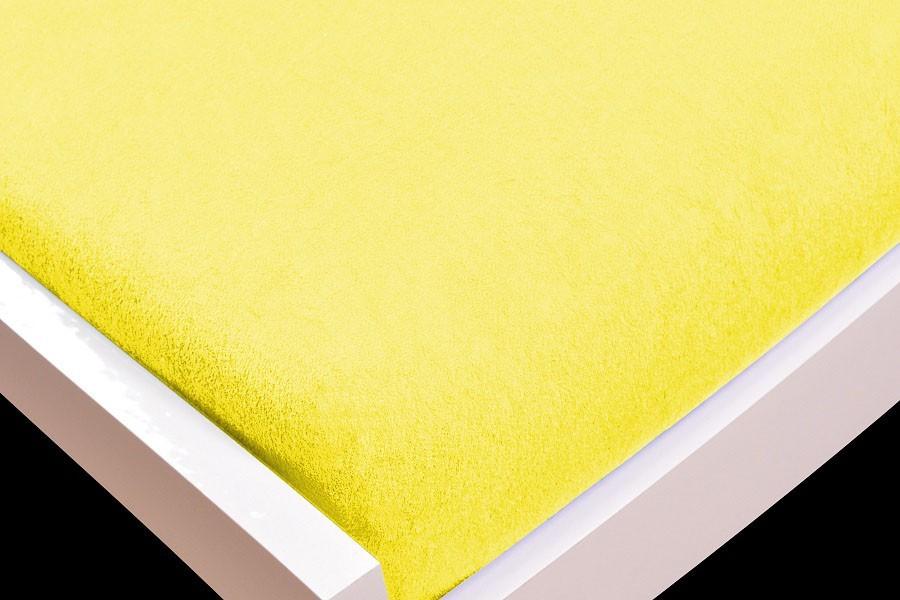 NÁBYTEK Prostěradlo Froté, 160x200 (žluté)