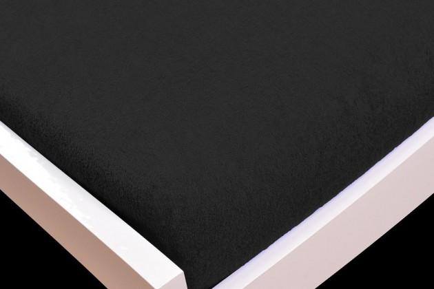 NÁBYTEK Prostěradlo Froté, 180x200 (černé)