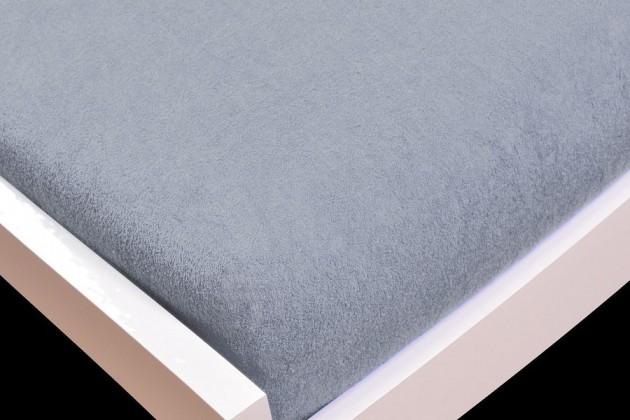 NÁBYTEK Prostěradlo Froté, 200x220 (šedé)