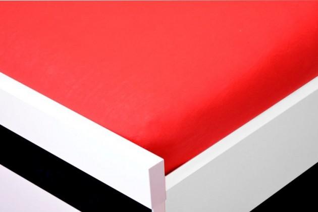 NÁBYTEK Prostěradlo Jersey, 140x200 (červené)