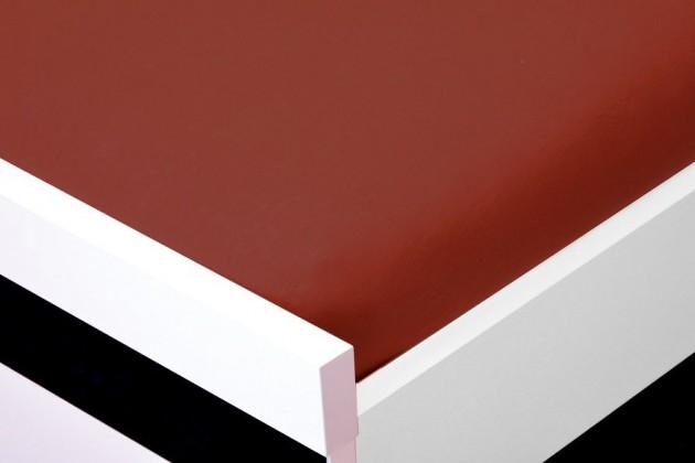 NÁBYTEK Prostěradlo Jersey, 160x200 (červenohnědé)