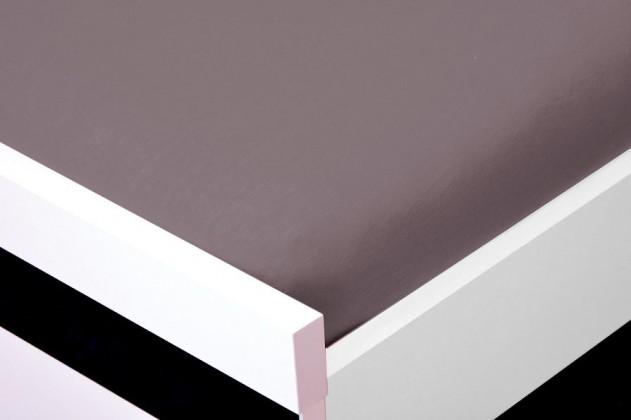 NÁBYTEK Prostěradlo Jersey, 160x200 (šedé)