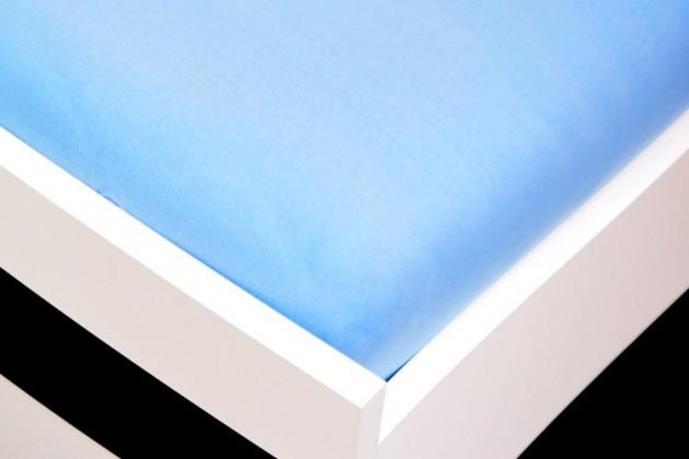 NÁBYTEK Prostěradlo Jersey, 160x200 (světle modré)