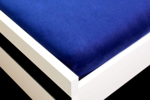 NÁBYTEK Prostěradlo Jersey, 160x200 (tmavě modré)