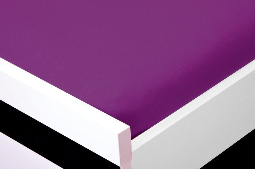 NÁBYTEK Prostěradlo Jersey, 180x200 (fialové)